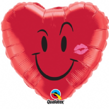 "Smile & A Kiss Foil Balloon (18"") 1pc"